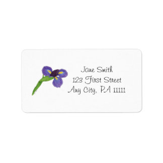 Japanese Iris Blossom Address Label