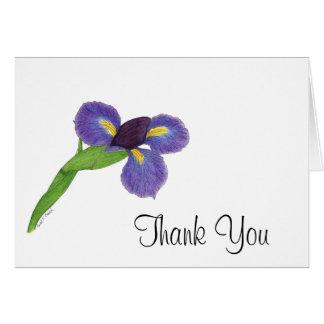 Japanese Iris Blossom Card