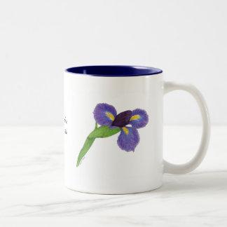 Japanese Iris Blossom Two-Tone Coffee Mug