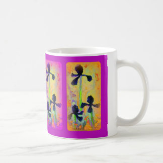 Japanese Iris Garden in Purple by Sharles Mug