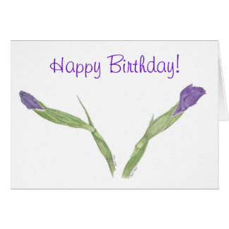 Japanese Iris (Iris ensata) Birthday Card