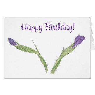 Japanese Iris (Iris ensata) Birthday Card