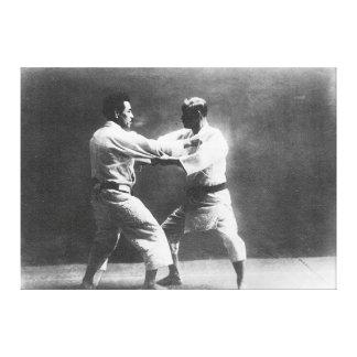 Japanese Judoka Jigoro Kano Kyuzo Mifue Judo Stretched Canvas Print