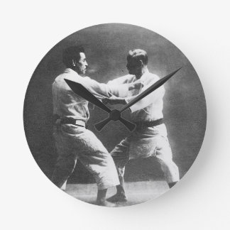Japanese Judoka Jigoro Kano Kyuzo Mifue Judo Wallclocks