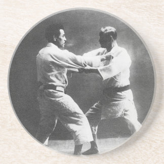 Japanese Judoka Jigoro Kano Kyuzo Mifue Judo Drink Coasters