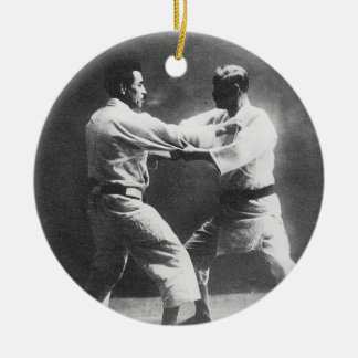 Japanese Judoka Jigoro Kano Kyuzo Mifue Judo Christmas Tree Ornament