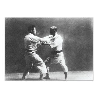 Japanese Judoka Jigoro Kano Kyuzo Mifue Judo Custom Invitation