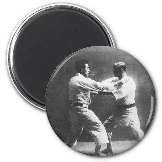 Japanese Judoka Jigoro Kano Kyuzo Mifue Judo 6 Cm Round Magnet