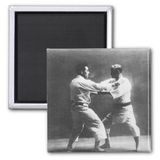 Japanese Judoka Jigoro Kano Kyuzo Mifue Judo Square Magnet