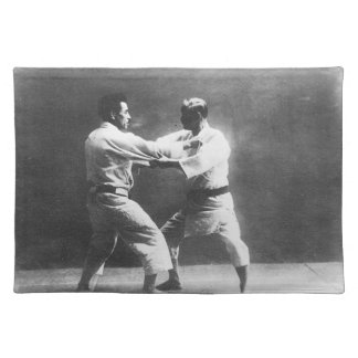 Japanese Judoka Jigoro Kano Kyuzo Mifue Judo Placemats