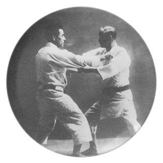 Japanese Judoka Jigoro Kano Kyuzo Mifue Judo Dinner Plate