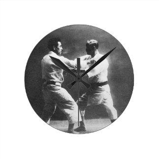 Japanese Judoka Jigoro Kano Kyuzo Mifue Judo Wall Clocks