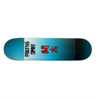 "Japanese Kanji Fighting Spirit Skate Deck 7 7/8"""