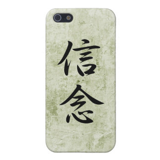 Japanese Kanji for Belief - Shinnen iPhone 5 Cases