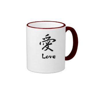 Japanese Kanji: Love Mugs