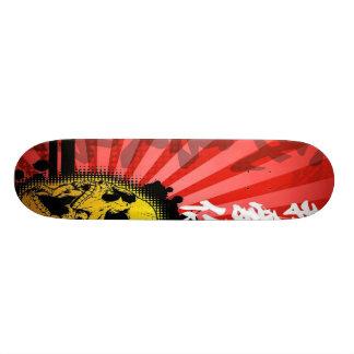 Japanese Kanji Skull Skateboard