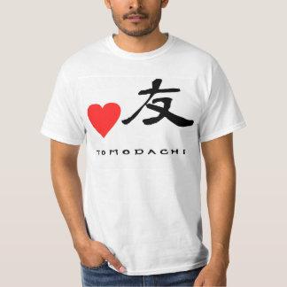 """Japanese Kanzi Kanji -""""Friend"""" T-Shirt"""