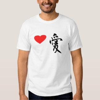 "Japanese Kanzi Kanji- ""Love "" Tshirts"