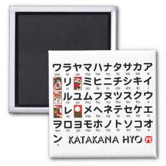 Japanese Katakana Alphabet table Fridge Magnet