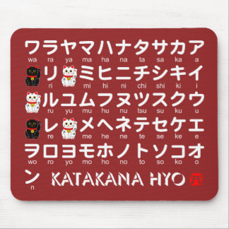 Japanese Katakana(Alphabet) table Mouse Mat