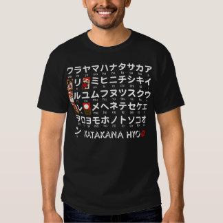 Japanese Katakana(Alphabet) table Tshirts
