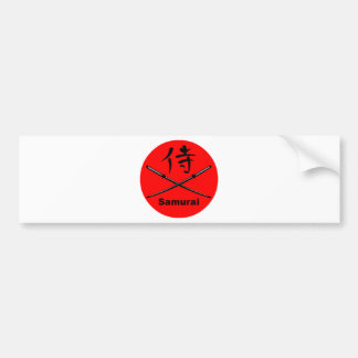 Japanese Katana and Samurai Kanji Bumper Sticker