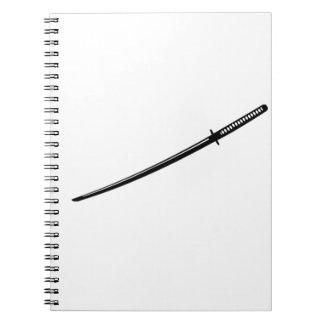 Japanese Katana Notebook