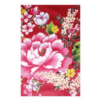 Japanese Kimono Flowers Stationery