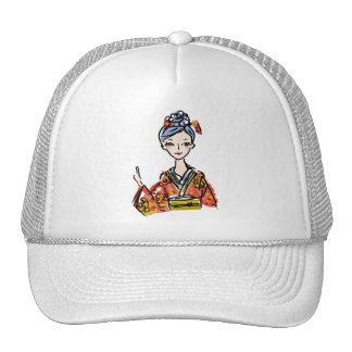 Japanese Kimono Girl Makes a great gift Trucker Hats