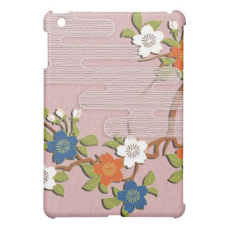Japanese kimono pattern - mist and cherry blossoms case for the iPad mini
