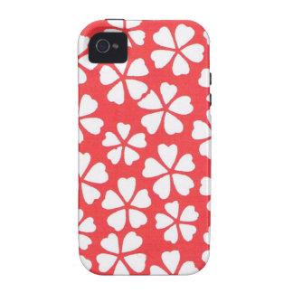 "Japanese kimono print ""Red"" i phone 4 case iPhone 4 Case"