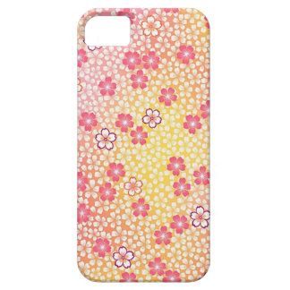 Japanese KIMONO Textile, Cherry Blossoms Pattern Barely There iPhone 5 Case