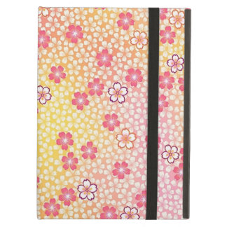Japanese KIMONO Textile, Cherry Blossoms Pattern iPad Air Cover