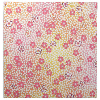 Japanese KIMONO Textile, Cherry Blossoms Pattern Napkin