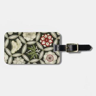 Japanese KIMONO Textile, Floral Pattern Luggage Tag