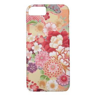 Japanese KIMONO Textile, Flower iPhone 7 Case
