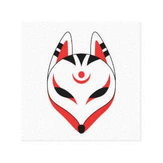Japanese Kitsune Fox Mask Canvas Print