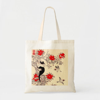 Japanese Kitten and Puppy Tote Bag