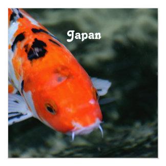 Japanese Koi 13 Cm X 13 Cm Square Invitation Card