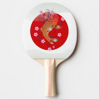 Japanese koi carp ping pong paddle