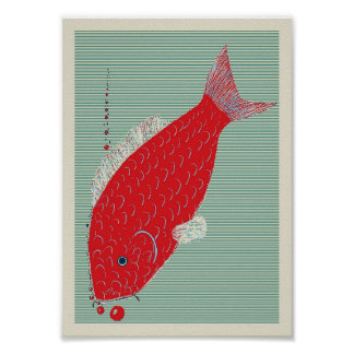 Japanese Koi Carp Poster