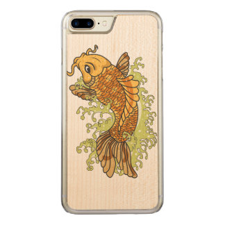 Japanese Koi Carved iPhone 8 Plus/7 Plus Case