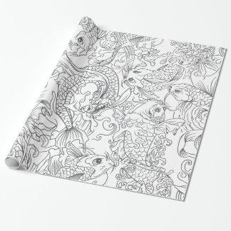 Black and white koi fish pattern gifts t shirts art for Koi fish gifts
