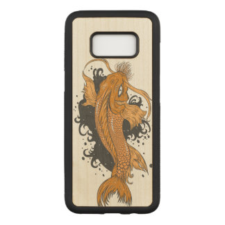 Japanese Koi Fish Carved Samsung Galaxy S8 Case