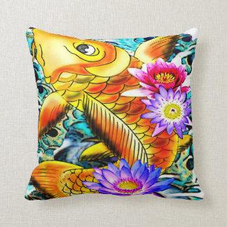 japanese koi fish,tattoo inspired cushion