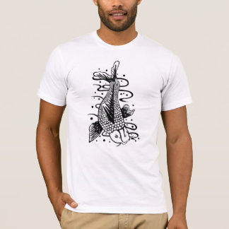 Japanese Koi Fish Tattoo Style Novelty T-Shirt