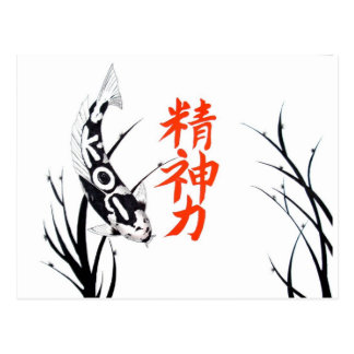 Japanese Koi Inspiration Painting Postcard