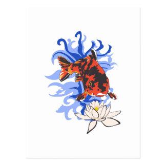 JAPANESE KOI WATER POST CARDS