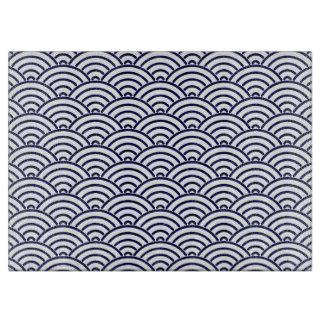 Japanese Koinobori Fish Scale in Delft Blue Cutting Board