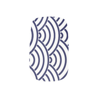 Japanese Koinobori Fish Scale in Delft Blue Minx Nail Art